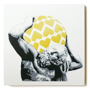 ステンシルアート「Love's so... (Gold)」
