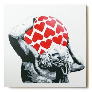 ステンシルアート「Love's so... (Red)」
