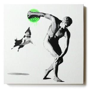 ステンシルアート「Attacker (Green)」