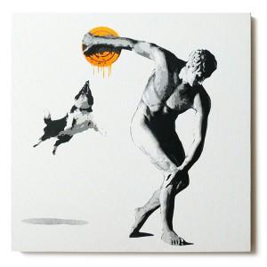 ステンシルアート「Attacker (Orange)」