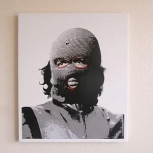 ステンシルアート作品「Che」before