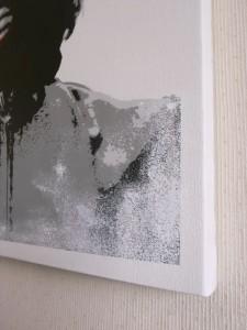 ステンシルアート作品「Che」detail