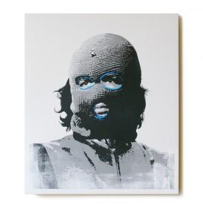ステンシルアート作品「Che (Blue Edition)」
