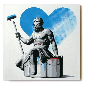 ステンシルアート作品「Painter (Blue AP Edition)」